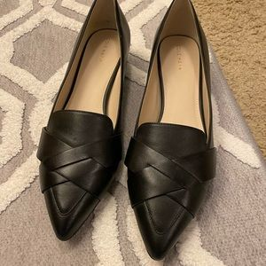 Cole Haan Pointed-Toe Black Leather Shoes size 10